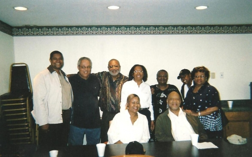 Sitting: Betty Walker, Ellis Ceasar, Standing:  Charlie Epperson, David Reed, William Gray, Shirley Corbin, Frankye John