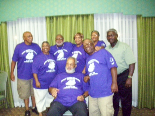 Standing Left to Right:  Lloyd David Brown, Carolyn McFrazier, William Gray,Shirley Turner, Bythelda Roberts, Porter Bri