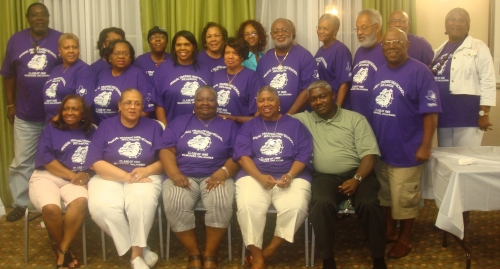 Sitting Left to Right: Joice Rivers, Marva Elliott, Frankye Sourie, Carolyn McFrazier, Porter Briggs, First Standing Lef