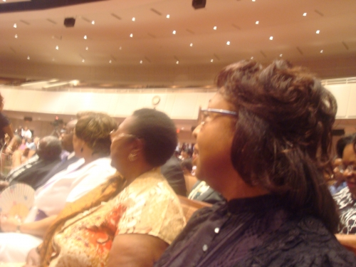 Worshipping where the Grays worship weekly--  Friendship West Baptist Church, Rev. Freddie Haynes, Pastor